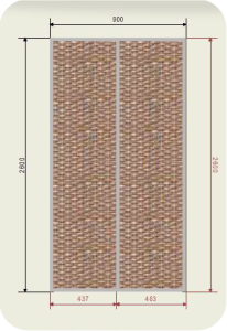 900 двери ротанг