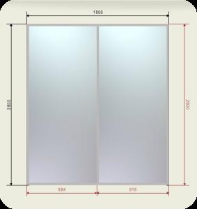 встроенный шкаф купе шириной 1800 мм двери зеркала